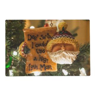 Estimado Santa podría utilizar un abrazo Tapete Individual