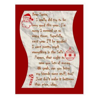 Estimado Santa, postal