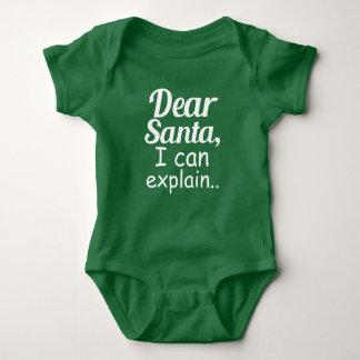 Estimado Santa puedo explicar día de fiesta Playera