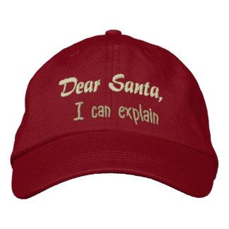 Estimado Santa, puedo explicar Gorras Bordadas