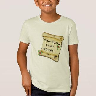Estimado Santa… puedo explicar la camiseta