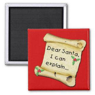 Estimado Santa… puedo explicar la camiseta diverti Imán Para Frigorifico