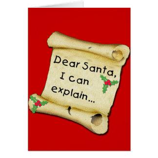 Estimado Santa… puedo explicar la camiseta Tarjeta De Felicitación