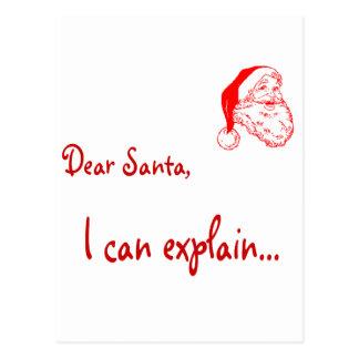 Estimado Santa… ¡Puedo explicar! Postal
