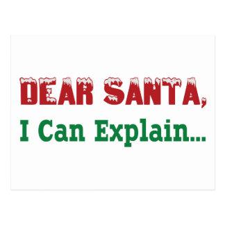 Estimado Santa, puedo explicar… Postales
