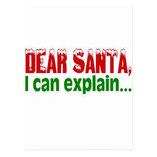 Estimado Santa, puedo explicar Postales