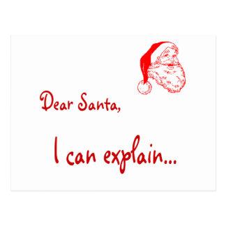 Estimado Santa… ¡Puedo explicar! Postales