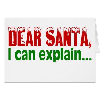 Estimado Santa, puedo explicar Tarjeta De Felicitación
