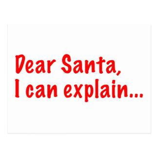 Estimado Santa, puedo explicar… Tarjeta Postal
