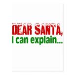 Estimado Santa, puedo explicar Tarjetas Postales