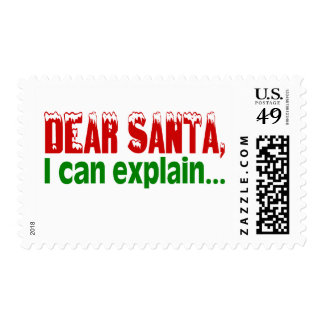 Estimado Santa, puedo explicar Timbres Postales
