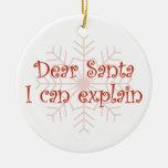 Estimado Santa que puedo explicar Ornamentos De Navidad