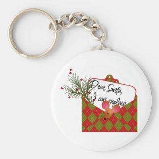 Estimado Santa… que puedo explicar Llavero Redondo Tipo Pin