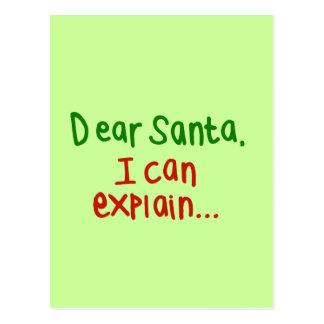 Estimado Santa que puedo explicar Postal