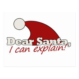 Estimado Santa que puedo explicar Postales