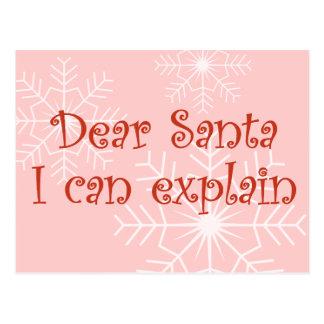 Estimado Santa que puedo explicar Tarjetas Postales