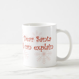 Estimado Santa que puedo explicar Taza