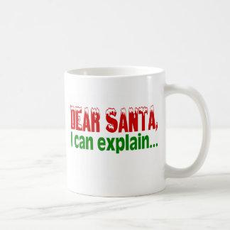 Estimado Santa que puedo explicar Taza Básica Blanca