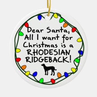 Estimado Santa Rhodesian Ridgeback Ornamento De Reyes Magos