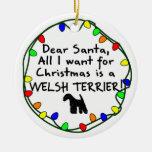 Estimado Santa Terrier galés Ornamento De Reyes Magos