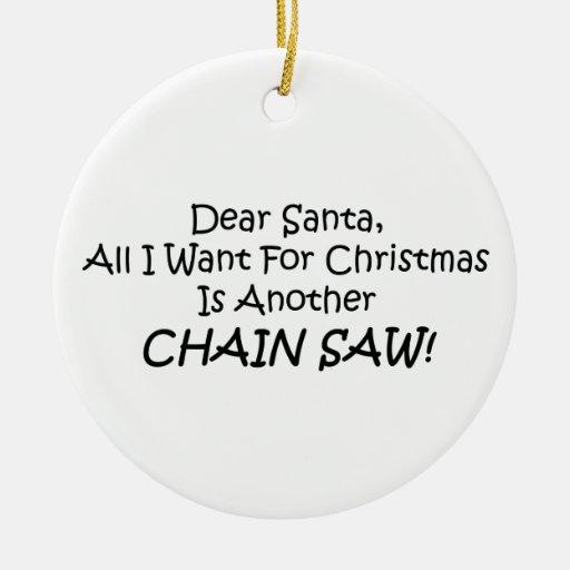 Estimado Santa todo lo que quiero para el navidad Adorno Navideño Redondo De Cerámica