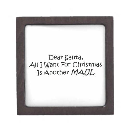 Estimado Santa todo lo que quiero para el navidad  Caja De Joyas De Calidad