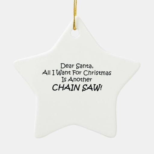 Estimado Santa todo lo que quiero para el navidad Adorno De Cerámica En Forma De Estrella