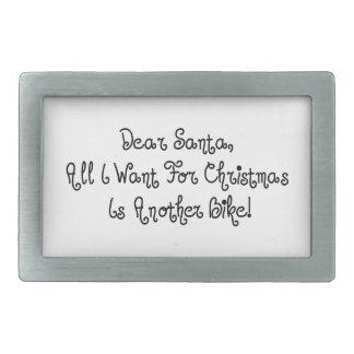 Estimado Santa todo lo que quiero para el navidad Hebillas Cinturon Rectangulares