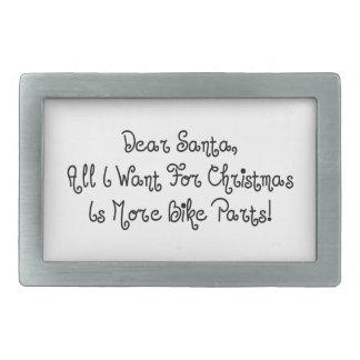 Estimado Santa todo lo que quiero para el navidad Hebillas Cinturón Rectangulares