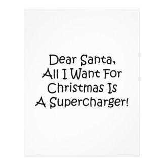 Estimado Santa todo lo que quiero para el navidad Membrete