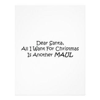 Estimado Santa todo lo que quiero para el navidad Plantilla De Membrete
