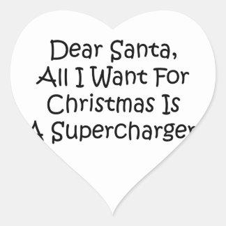 Estimado Santa todo lo que quiero para el navidad Pegatina En Forma De Corazón