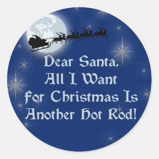 Estimado Santa todo lo que quiero para el navidad Pegatina Redonda