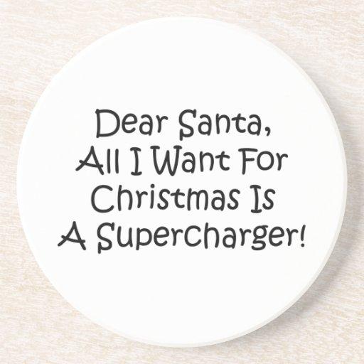 Estimado Santa todo lo que quiero para el navidad  Posavasos Para Bebidas