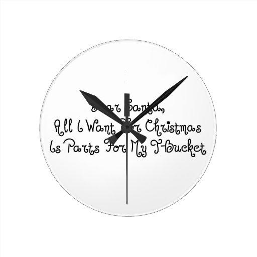 Estimado Santa todo lo que quiero para el navidad  Reloj Redondo Mediano