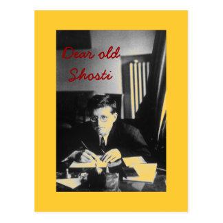 """""""Estimado Shosti viejo """" Tarjeta Postal"""