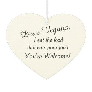 Estimados amigos del vegano