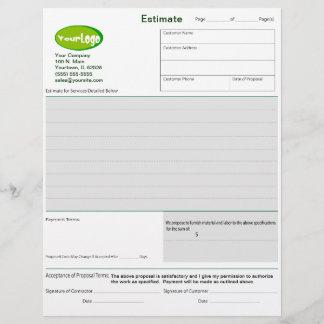 Estimate / Quote / Job Proposal Forms