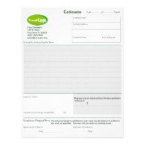 Estimate / Quote / Job Proposal Forms Letterhead