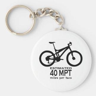 Estimated 40 Miles Per Taco Basic Round Button Keychain