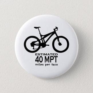 Estimated 40 Miles Per Taco Button
