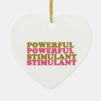 ESTIMULANTE POTENTE - las palabras U se relacionan Adorno Navideño De Cerámica En Forma De Corazón