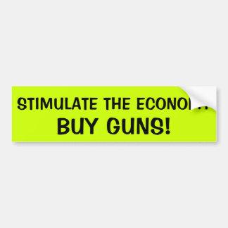 ESTIMULE LA ECONOMÍA: COMPRE ARMAS PEGATINA PARA AUTO