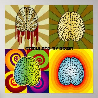 Estimule mi cerebro póster