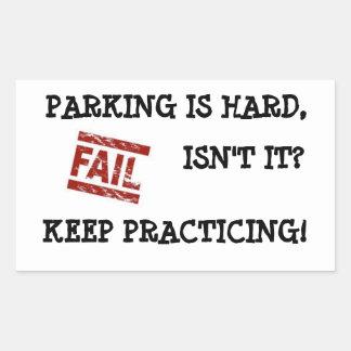 Estímulo apacible del estacionamiento pegatina rectangular