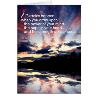 Estímulo de los milagros… tarjeta de felicitación