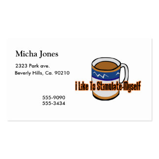 Estímulo del café tarjetas de visita