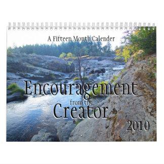 Estímulo del creador calendario de pared