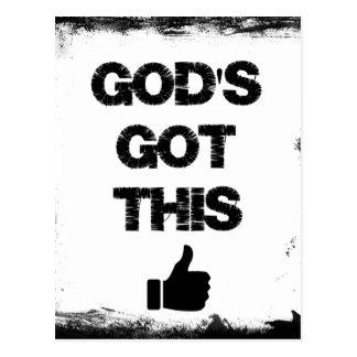 Estímulo: Dios conseguido esto Tarjetas Postales