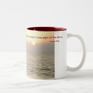 Estímulo o enhorabuena taza de café
